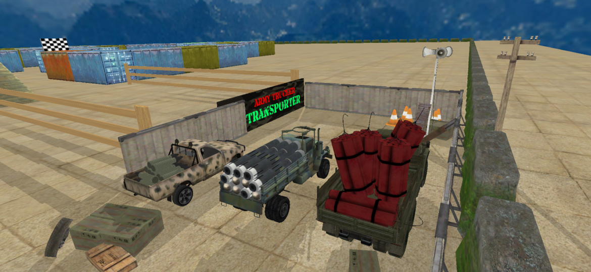 Army Truck Transport 3D